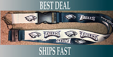 NEW NFL Official Team Colors REVERSIBLE KEYCHAIN LANYARD -Philadelphia Eagles