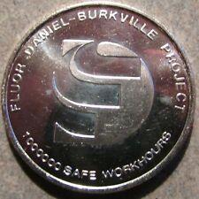 Vintage Fluor Daniel - Burkville, AL 1 Troy Oz 999 Fine Silver Round - Alabama