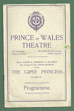 """1921 PRINCE OF WALES THEATRE PROGRAMME """"THE GIPSY PRINCESS"""""""