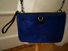 NWT: GAP Royal Blue Calf Hair/ Black Leather Convertable Crossbody/ Wristlet Bag
