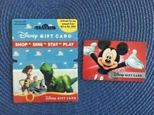 2 - Disney gift card Toy Story & Mickey Mouse - collectible only no $ value