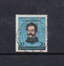 Alemania Occidental 1952 Carl Schurz 20pf Negro/Azul SG1077 usado alta Gato £ 12