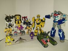 Lot of 16 Transformers Action Figures toys some vintage Optimus Prime Bumblebee