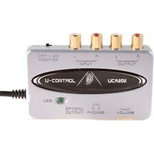 BEHRINGER U-CONTROL UCA202 scheda audio usb portatile x DJ NEW garanzia ITALIA