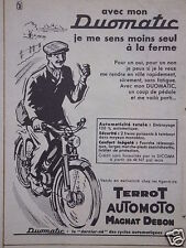 PUBLICITÉ 1960 CYCLOS DUOMATIC TERROT AUTOMOTO MAGNAT DEBON - ADVERTISING