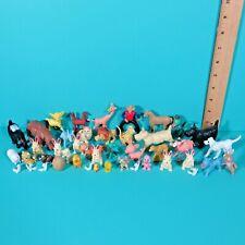 Vintage Plastic Animal Toy Figures Dog Cat Bunny Turtle Horse Camel Hippo Lot 2