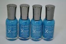 Lot of 4 Sally Hansen Hard As Nails Xtreme Wear 11.8ml/0.4fl.oz. -Blue Me Away!-