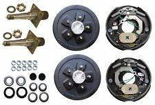 3500# Electric Brake Trailer Axle Kit w/EZ Lube Spinde 5x5 Drum Never Adjust