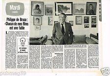 Coupure de presse Clipping 1981  (2 pages) Philippe de Broca