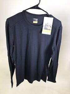 Icebreaker Merino 200 Oasis Crewe LS Shirt - Medium - BLACK - NEW WITH DEFECT