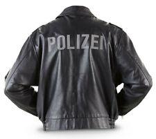 Vintage 1992 German L & XL Polizei Leather jackets,Grade 1 surplus,free shipping