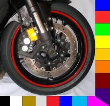 "RED MOTORCYCLE or CAR CUSTOM RIM STRIPES WHEEL DECALS TAPE STICKERS 8 to 19"" rim"