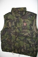 Ralph Lauren Down Puffy Camo Leather Patch Vest Green Vest men L Large