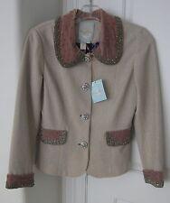 Stunning/Exquisite Tracy Reese Blush Jewel Embellished Jacket Size 6 NWTs