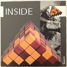 INSIDE All Wood Strategy Pyramid Block Building Board Game Kids and Adult Fun