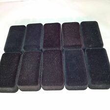 10 x Black Cufflinks Boxes - Replacement Hard Cardboard & Felt Cuff Links Boxes