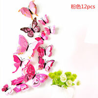 12pcs 3D Butterfly Design Decal Art Wall Stickers Room Decoration Home Decor DIY