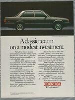 1983 HONDA ACCORD advertisement, Honda Accord LX sedan
