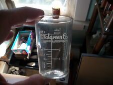 EARLY ACID ETCHED WALGREEN DRUG CO MEDICINAL DOSE GLASS NORMAL TEMP & PULSE