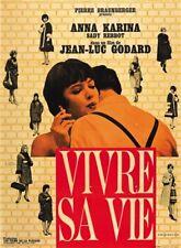 Vivre sa vie: Film en douze tableaux (1962) Jean-luc Godard movie poster print 3