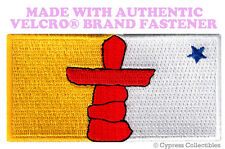 NUNAVUT FLAG PATCH CANADA EMBROIDERED new CANADIAN w/ VELCRO® Brand Fastener