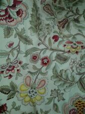 Waverly Imperial Dress Gold Beige Pink Green Floral curtain panel