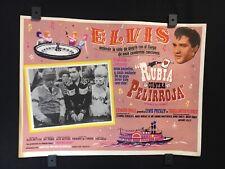 """1966 Elvis Presley FRANKIE AND JOHNNY Original Mexican Lobby Card Movie 16""""x12"""""""