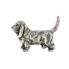 Basset Hound, silver covered pin, high qauality Art Dog Ca