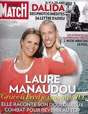 Paris Match magazine Laure Manaudou Marc Levy Jack Dorsey Dalida Jean Imbert