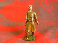 Soldat de plomb creux - Tirailleur avec fusil sur l'épaule hauteur 55mm