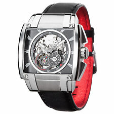 DETOMASO Metauro Mens Automatic Watch Skeleton Stainless Steel Silver New