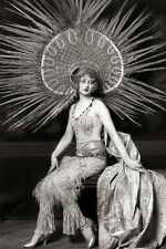 Alfred Cheney Johnston Photo, Ziegfeld Girl with Headdress, 1920's