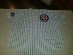Majestic Chicago Cubs Rizzo #44 Pin Stripe 4XL Jersey 2016 World Champions