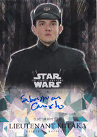 2016 Star Wars Force Awakens Chrome Auto Atomic Ref Armesto as Lt. Mitaka #/99