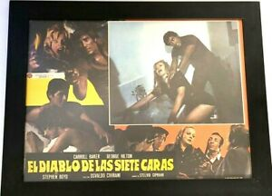 Vintage Cinefilms Movie Poster -The Devil With 7 Faces - Spanish Horror RARE