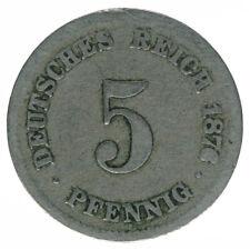 Deutsches Reich 5 Pfennig 1876 H A50268
