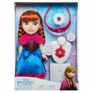 Disney Frozen Anna Kids Doll and Accessory Set 14 Inch Doll New  Sealed