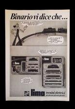 Pubblicita'Advertising Originale Vintage LIMA/CORRIERE RAGAZZI  1975(A2