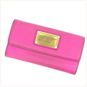 Marc Jacobs Wallet Purse Trifold Pink Woman Authentic Used Y216