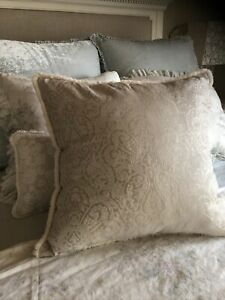 Rachel Ashwell Shabby Chic Couture RARE Champagne Damask Pillow Nw 24x24 1 Of Kn