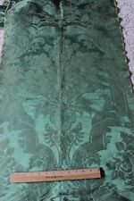 Antique 18thC French Emerald Green Silk Manufacturers Fabric Sample~Frame Design