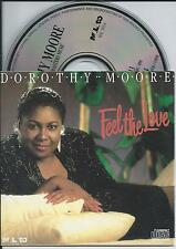 DOROTHY MOORE - Feel the love CD SINGLE 3TR CARDSLEEVE 1990 NETHERLANDS RARE!!