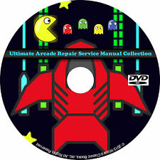 Ultimate Arcade Repair Service Manual Collection DVD Schematics DIP pdf CD