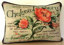 Flowers- Tea Roses, Replica Of Vintage Ads, By Susan Winget Tapestry Pillow New
