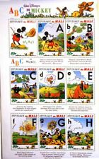 MALI 1996 Klb 1622-30 MS 797 Mickey´s ABC Walt Disney Figuren Figures MNH