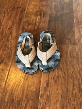 Cat & Jack Toddler Boys Camoflauge Flip Fops Heel Ankle Strap L 9/10   (F)