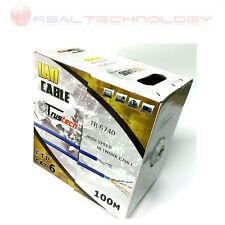 MATASSA CAVO LAN FTP CAT 6 100 GRIGIO 100MT TRUSTECH TR-6740