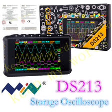 New Portable LCD 4-channel Digital Oscilloscope DS213 USB 15MHz 100MSa/s Models