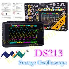 Mini Portable Lcd 4 Channel Digital Oscilloscope Ds213 Usb 15mhz 100msas Models