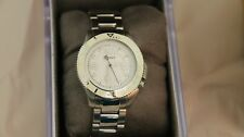 DKNY Women's  White Stainless Steel Mineral Glass Quartz Watch NY4525